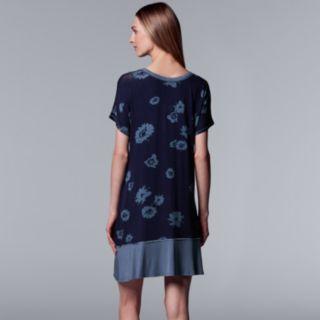 Women's Simply Vera Vera Wang Printed Sleepshirt