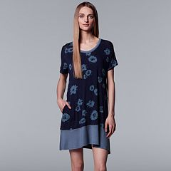Women's Simply Vera Vera Wang Printed Sleepshirt
