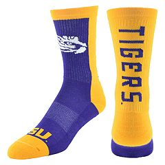 Youth Mojo LSU Tigers Loud & Proud Crew Socks