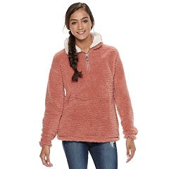 Juniors' SO® Quarter-Zip Sherpa Pullover