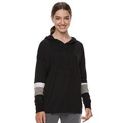 Juniors' SO® Striped Sleeve Oversized Hoodie