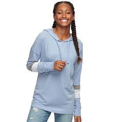 Juniors' SO® Striped Sleeve Oversized Hoodie