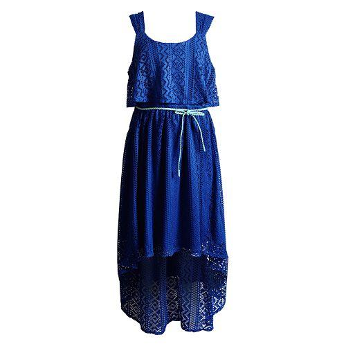 Girls 7-16 Emily West Crochet Popover Dress