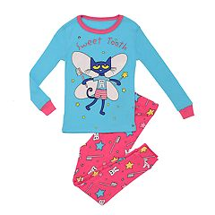 Toddler Girl Pete The Cat 'Sweet Tooth' Top & Bottom Pajama Set