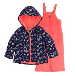 Toddler Girl OshKosh B'gosh® Colorblock Hooded Heavyweight Jacket