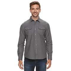Men's Apt. 9® Brushed Nep 2-Pocket Woven Button-Down Shirt