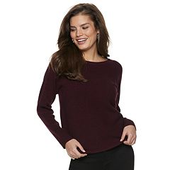 Women's Apt. 9® Ribbed Crewneck Dolman Sweater