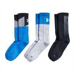 Boys 8-20 Under Armour Phenom 3-Pack Crew Socks