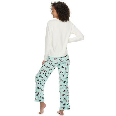 Juniors' SO® 2-piece Plush Pajama Set