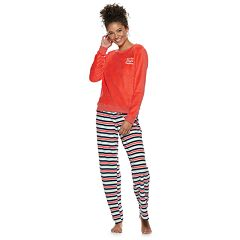 Juniors' SO® 2-piece Plush Pajama Set
