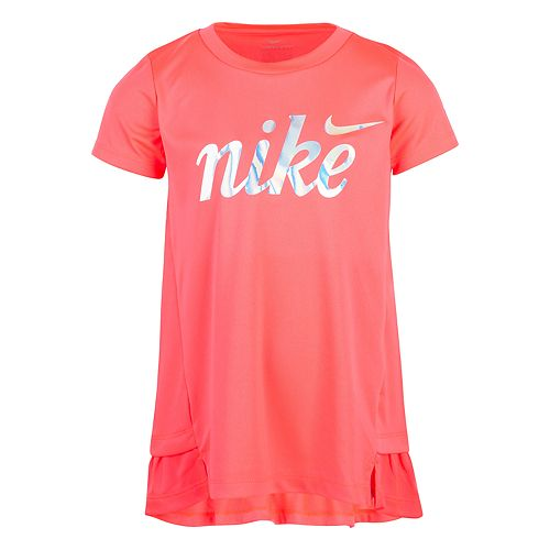 Girls 4-6x Nike Dri-FIT Graphic Peplum-Hem Tunic Top