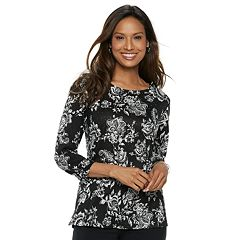 Petite Croft & Barrow® Embellished Cozy Top