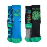 Boys Teenage Mutant Ninja Turtle 2-Pack Crew Socks