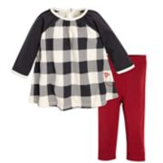 Baby Girl Burt's Bees Baby Organic Buffalo Check Dress & Leggings Set