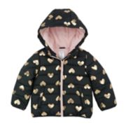 Toddler Girl OshKosh B'gosh® Foil Heart Hooded Heavyweight Jacket