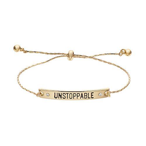 "LC Lauren Conrad ""Unstoppable"" Bar Bolo Bracelet"
