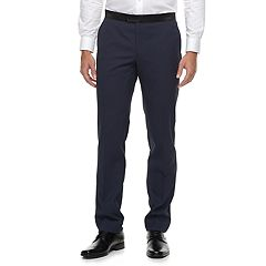 Men's Savile Row Slim-Fit Purple Tuxedo Pants