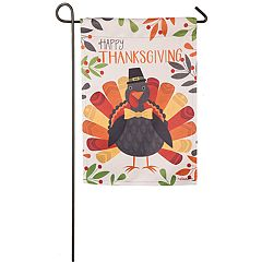 'Happy Thanksgiving' Turkey Indoor / Outdoor Garden Flag