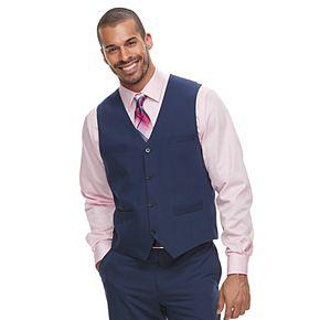 Men's Savile Row Slim-Fit Blue Suit Vest