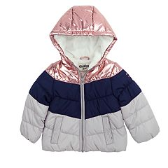 Toddler Girl OshKosh B'gosh® Metallic Colorblock Hooded Heavyweight Jacket