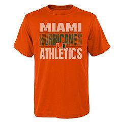 Boys' 4-18 Miami Hurricanes Light Streaks Tee