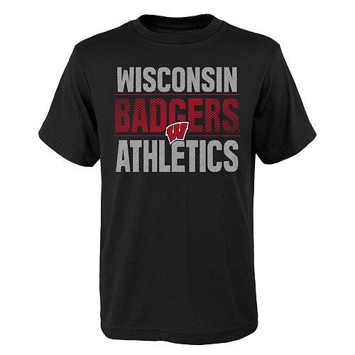 Boys  4-18 Wisconsin Badgers Light Streaks Tee 71c8e0e32