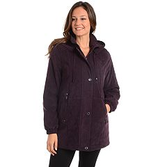 Women's Fleet Street Hooded Faux-Suede Jacket