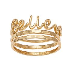 LC Lauren Conrad 'Believe' Ring Set