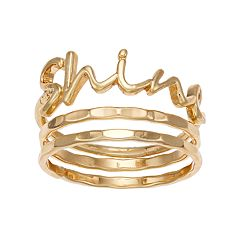 LC Lauren Conrad 'Shine' Ring Set