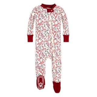 Baby Girl Burt's Bees Baby Organic Branches Footed Coverall