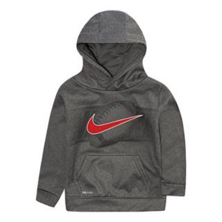 Toddler Boy Nike Dri-FIT Football Logo Hoodie