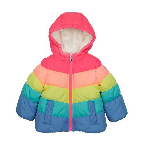 9ea5cf0d1759 Toddler Girl OshKosh B gosh® Colorblock Hooded Heavyweight Jacket