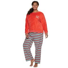 Plus Size SO® 2-piece Plush Pajama Set
