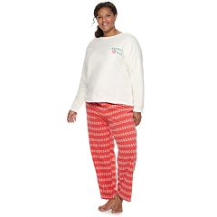 Plus Size SO® 2-piece Plush Pajama Set