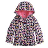 Toddler Girl Carter's Midweight Butterfly Hooded Rain Jacket