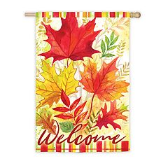 'Welcome' Autumn Indoor / Outdoor Garden Flag