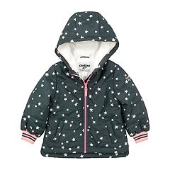 Toddler Girl OshKosh B'gosh® Star Hooded Midweight Jacket