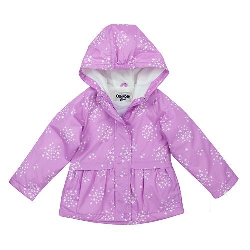 9aa83e17b35d Toddler Girl OshKosh B gosh® Star Hooded Peplum Midweight Jacket