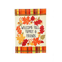 'Welcome Fall Family Friends' Indoor / Outdoor Garden Flag
