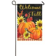 """Welcome Fall"" Indoor / Outdoor Garden Flag"