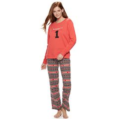 Juniors' SO® Cozy 2-pc. Pajama Set