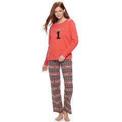Juniors' SO® Cozy 2-pc. Pajama Set