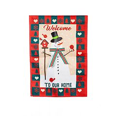 'Welcome to Our Home' Indoor / Outdoor Garden Flag