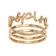 LC Lauren Conrad 'Inspire' Ring Set