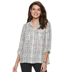Women's Apt. 9® Collar Georgette Blouse