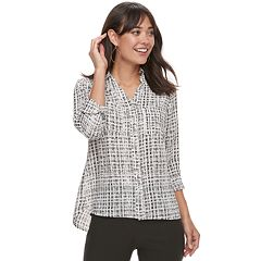 Women's Apt. 9® Georgette Collar Blouse