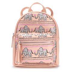 OMG Accessories Glitter Elephant Mini Backpack