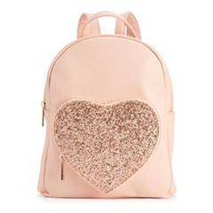 OMG Accessories Glitter Heart Mini Backpack