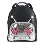 OMG Accessories Glitter Robot Mini Backpack