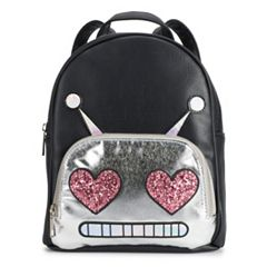 OMG Accessories Glitter Robot Mini Backpack
